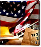 Made In Usa Acrylic Print