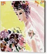 Mademoiselle Cover Featuring A Bride Acrylic Print
