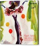 Mademoiselle Cover Featuring A Model Wearing Acrylic Print