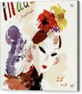 Mademoiselle Cover Featuring A Woman Acrylic Print