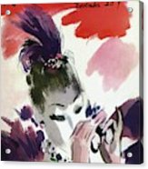Mademoiselle Cover Featuring A Woman Looking Acrylic Print