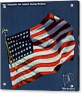 Mademoiselle Cover Featuring The U.s. Flag Acrylic Print