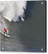 Madman At Mavericks Surf Contest Acrylic Print