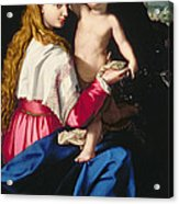 Madonna And Child Acrylic Print by Alessandro Allori