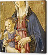 Madonna And Child Acrylic Print by Domenico Bigordi Domenico Ghirlandaio