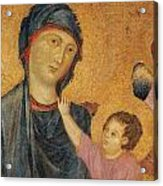 Madonna And Child Enthroned  Acrylic Print