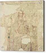 Madonna And Child Enthroned, Drawing For A Fresco Sinopia On Paper Acrylic Print