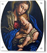 Madonna And Child Acrylic Print by Jane Whiting Chrzanoska