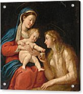 Madonna And Child With Mary Magdalene  Acrylic Print