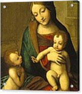 Madonna And Child With The Infant Saint John Acrylic Print