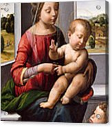 Madonna And Child With The Young Saint John The Baptist Acrylic Print