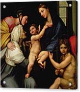 Madonna Dell'impannata Acrylic Print by Raphael