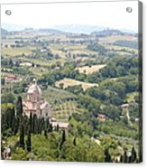 Madonna Di San Biagio Tuscany Acrylic Print