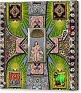 Madonna Of Valladolid Mexico Acrylic Print by Ron Morecraft