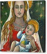Madonna With Baby Jesus Acrylic Print