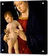 Madonna With The Child Blessing Acrylic Print