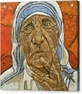 Madre Teresa Di Calcutta Acrylic Print