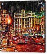Madrid City Acrylic Print