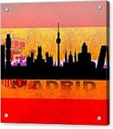 Madrid City Acrylic Print