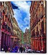 Madrid Life Acrylic Print