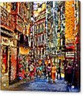 Madrid Lookers 2 Acrylic Print by Cary Shapiro
