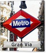 Madrid Metro Sign Acrylic Print