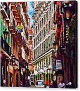 Madrid Narrow Street Acrylic Print
