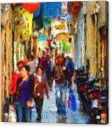 Madrid Shopping Spree Acrylic Print
