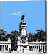 Madrid Skyline Retiro Park - Light Blue Acrylic Print