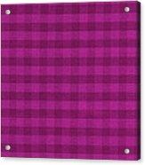 Magenta Checkered Pattern Cloth Background Acrylic Print