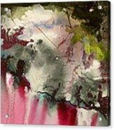 Magenta Cliffs Acrylic Print by Carole Johnson
