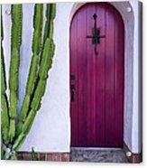 Magenta Door Acrylic Print