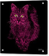 Magenta Feral Cat - 9905 F Acrylic Print