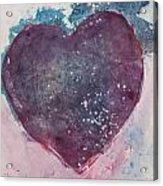 Magenta Heart Acrylic Print