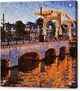 Magere Brug Bridge In Amsterdam Acrylic Print