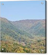 Maggie Valley In The Fall Acrylic Print