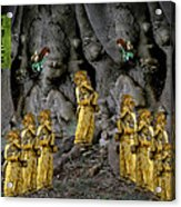 Magic As The Tree People Celebrate Health Acrylic Print