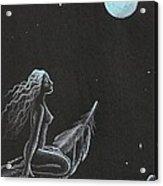 Magic Crow Feather Acrylic Print