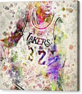 Magic Johnson Acrylic Print by Aged Pixel