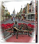 Magic Kingdom Walt Disney World 3 Panel Composite Acrylic Print