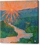 Magic Light At Carvins Cove Acrylic Print