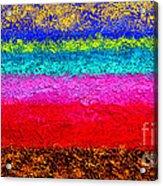 Magic Sunrise - Abstract Oil Painting Original Metallic Gold Textured Modern Contemporary Art Acrylic Print