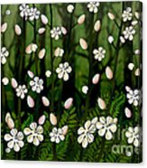 Magical Blooms Of The Deep Forest Acrylic Print