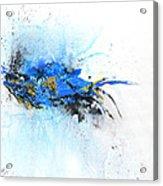 Magical Blue 1- Abstract Art Acrylic Print by Ismeta Gruenwald