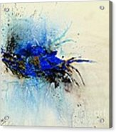 Magical Blue-abstract Art Acrylic Print by Ismeta Gruenwald