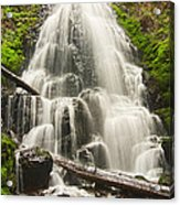Magical Falls - Fairy Falls In The Columbia River Gorge Area Of Oregon Acrylic Print