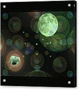 Magical Moonlight Clover Acrylic Print