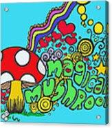 Magical Mushroom Pop Art Acrylic Print