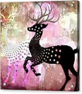 Magical Reindeers Acrylic Print