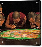 Magickal Circle Sand Painting Acrylic Print by Dodie Ulery